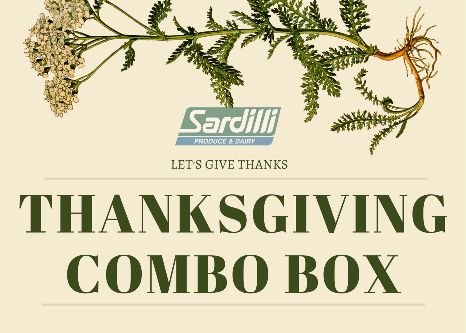 THANKSGIVING COMBO BOX - ONLY AVAILABLE TUESDAY NOV 24th -This box has all the things you need for your Thanksgiving Dinner.