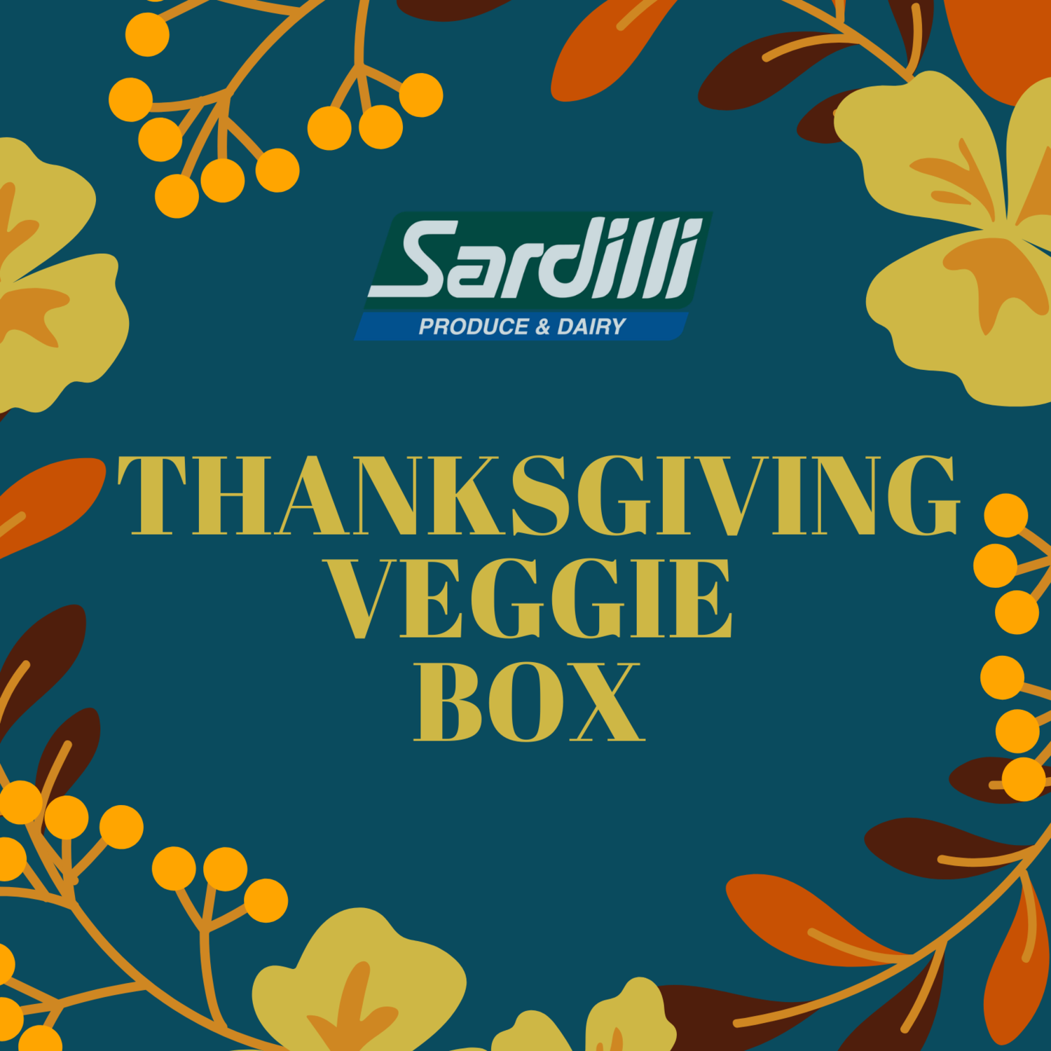 THANKSGIVING VEGGIE BOX -  AVAILABLE ONLY TUESDAY NOV 24th. ALL THE VEGGIES YOU NEED FOR THANKSGIVING.