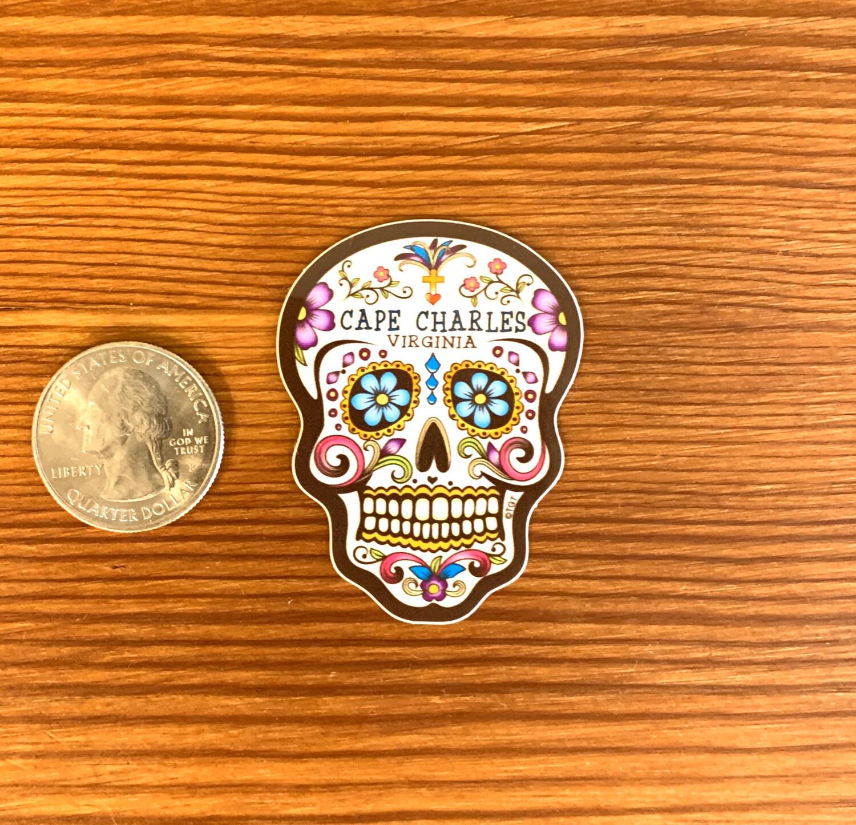 Stickers Mini Sugar Skull Flowers