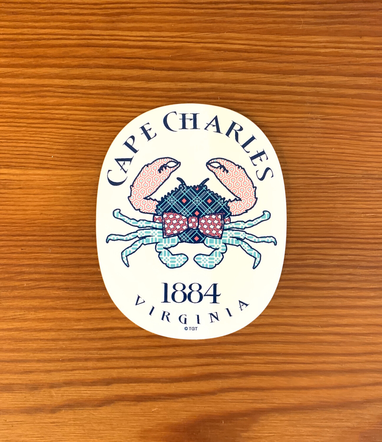 Stickers Necktie Crab
