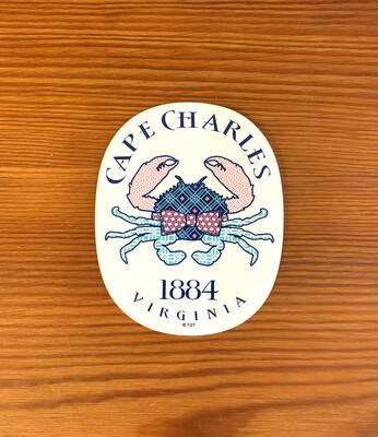 Stickers Necktie Crab