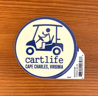 Stickers Cart Life Blue-Tan