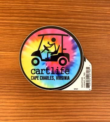 Stickers Cart Life Tie Dye