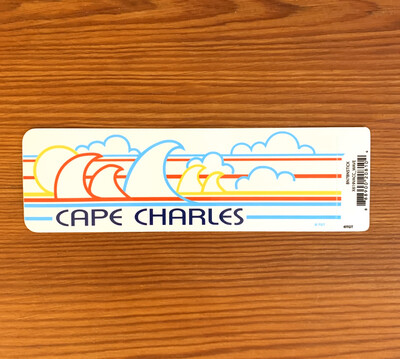 Stickers Wave Cape Charles Bumper
