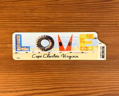 Stickers LOVE sign bumper