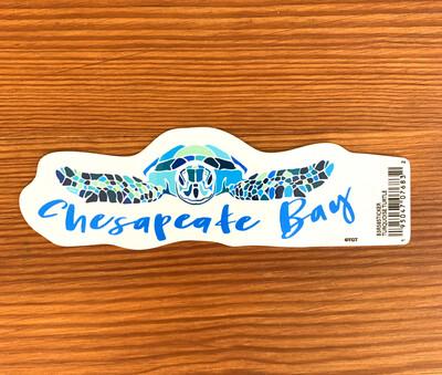 Stickers Turquoise Turtle Chesapeake Bay