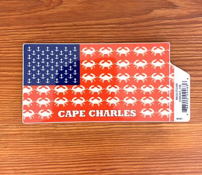 Stickers Retro Flag Anchors & Crabs