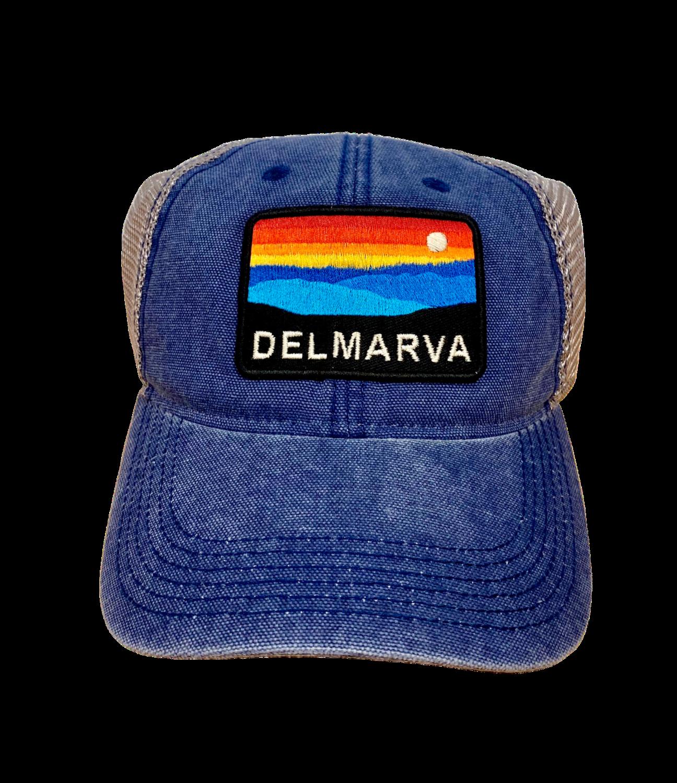 Hat A Trucker Delmarva Navy DTA