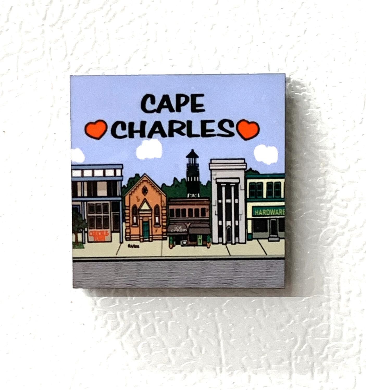 """Souvenir Magnet Townscape Square 2"""""""