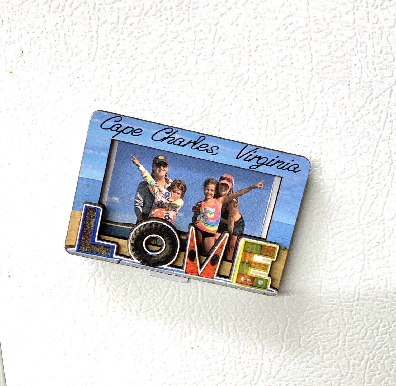 Souvenir Magnet LOVE Photo Frame