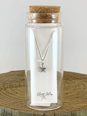 Jewelry Necklace Starfish Bottle SG