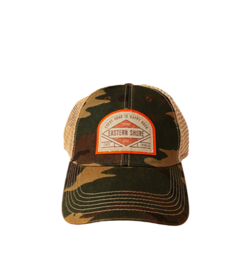 Hat A Trucker Army Camo ESVA Happy Hour OFA