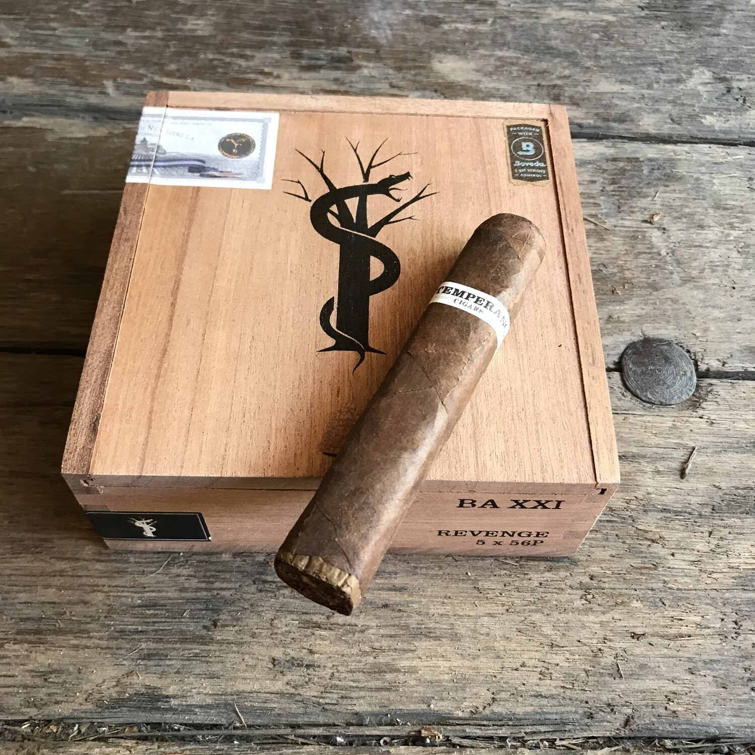 LE Revenge 5x56 Box Pressed Gran Robusto, Intemperance BA XXI, 12's