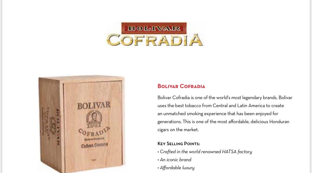 Bolivar Cofradia Toro 6x54, 25's