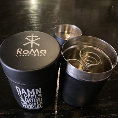 424MRW Mini Ash Can Matte Black RoMa Craft Weasel Xikar