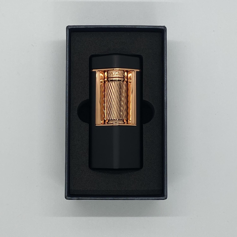 XI-600BKRS Meridian Soft Flame Lighter Matte Black & Rose Gold