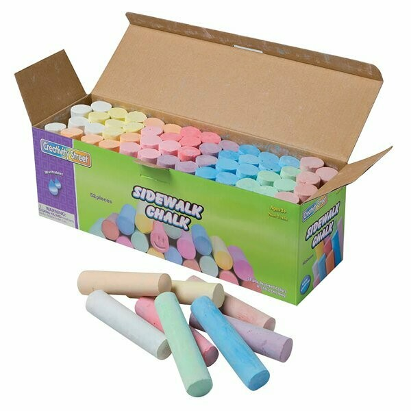 Creativity Street Assorted 11-Color Jumbo Stick Sidewalk Chalk