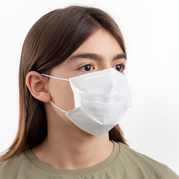 Kids Earloop Face Masks- Size M -BFE>95% (50/Box)