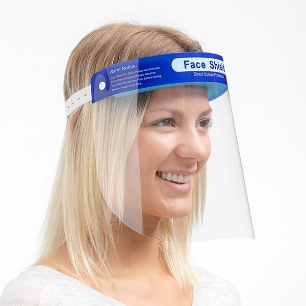 (10/Box) Face Shield Protection Screen- Reusable & Washable