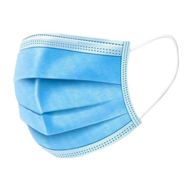 Disposable Earloop Breathable 3 Ply Face Masks (50/Box)