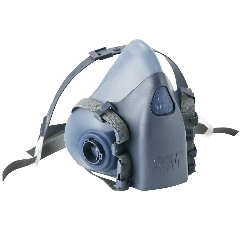 3M 7502 Half Facepiece Reusable Respirator with Cool Flow Valve – Medium