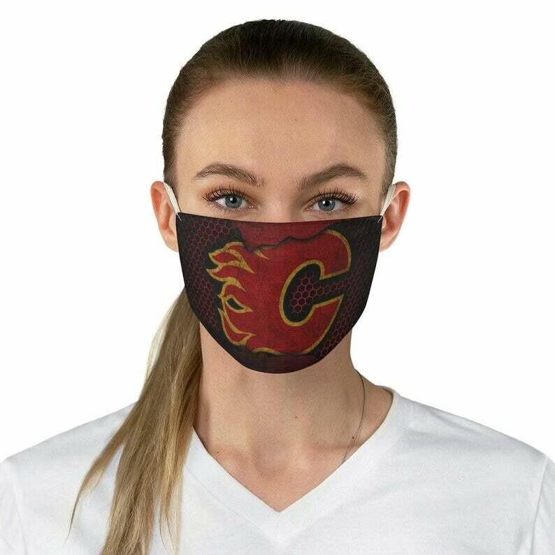 Calgary Flames Fabric Breathable Fashionable Face Mask Reusable and Washable