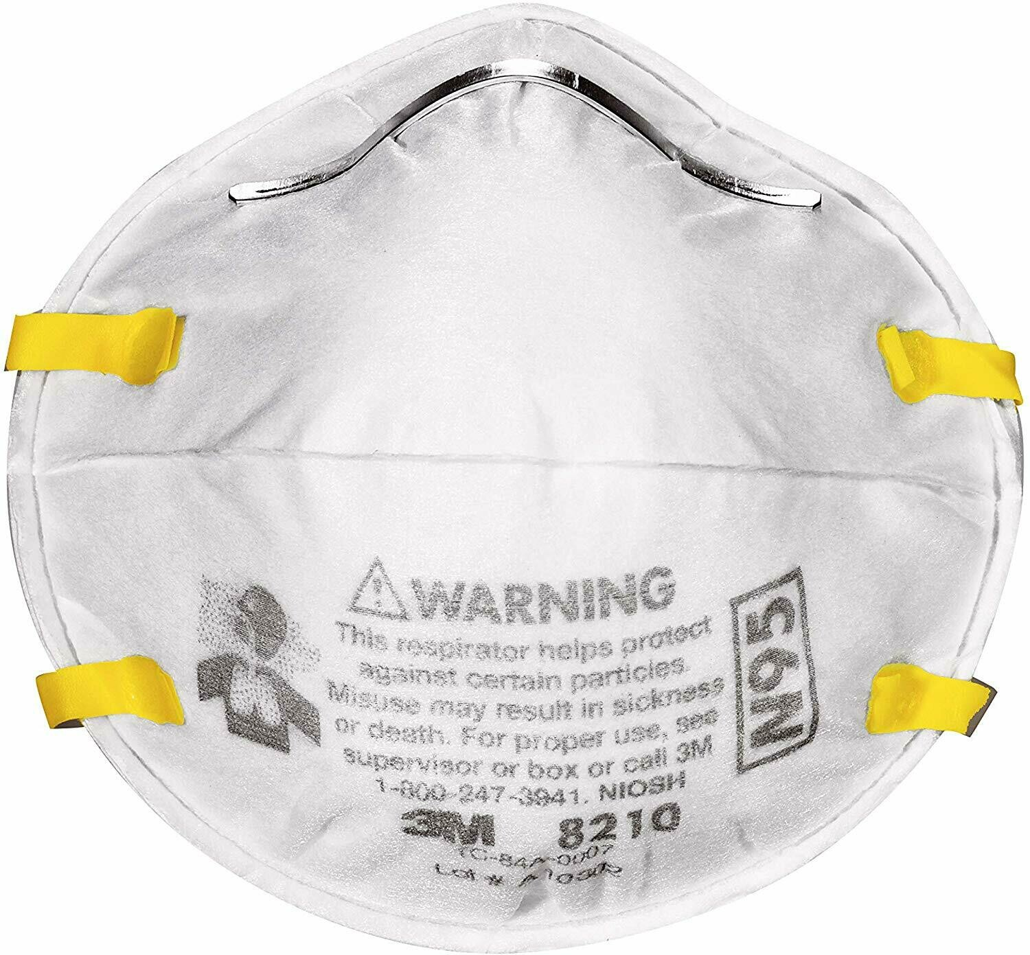 40/Box 3M 8210Plus Pro N95 Particulate Respirator Face Mask