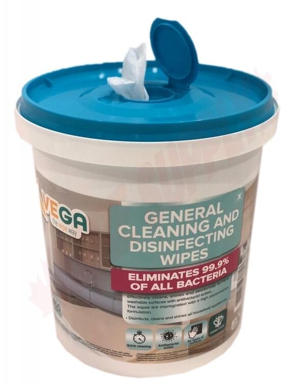 (400/Tub) Vega Disinfecting Sanitizing Wipes, Kills 99.9% Germs