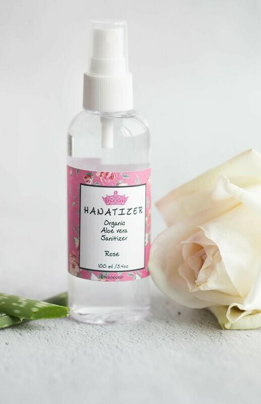 Rose Kids Organic Aloe Vera Hand Sanitizer | Disinfectant 85% alcohol | Antiseptic- 100ml/3.4oz