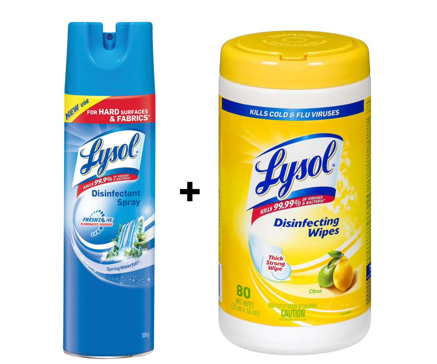 LYSOL BUNDLE-Lysol Disinfectant Wipes 80 Count & Lysol Disinfectant Wipes 539g