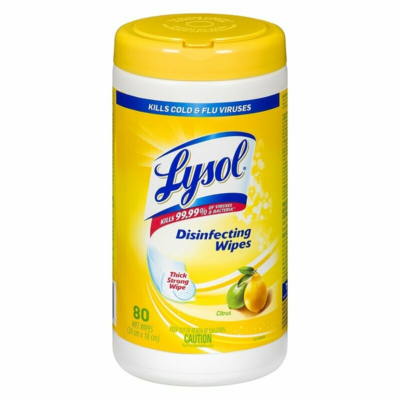 Lysol Disinfectant Wipes 80 Count- Multipurpose Wipes For Disinfecting-Kills 99.9% Germs