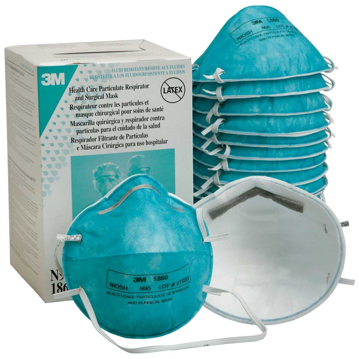 20/Box 3M 1860 N95 Particulate Respirator Face Mask
