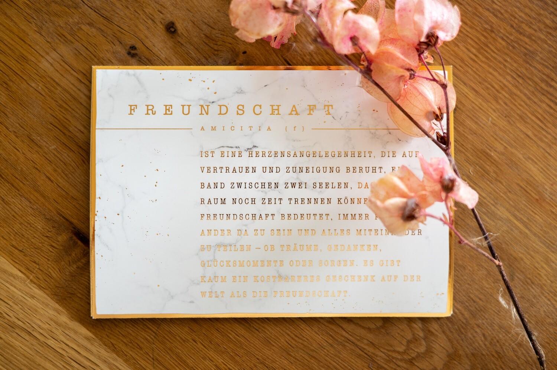 Postkarte Freundschaft