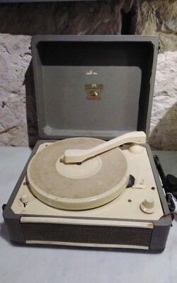 Vintage Portable LP Player w/Speaker