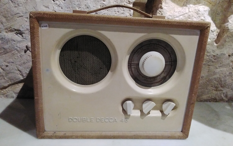 Double Decca 46 portable radio