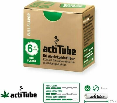 ActiTube Charcoaled Filter for Roll Up 6mm