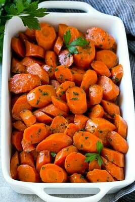 Caramalised sweet carrots