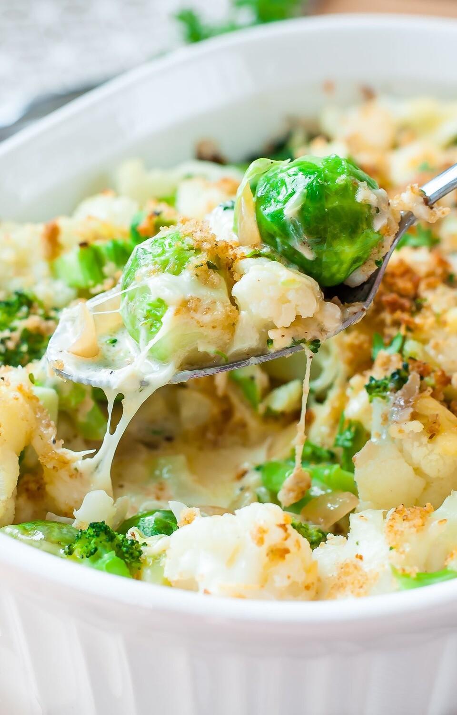 Creamy cauliflower & broccoli