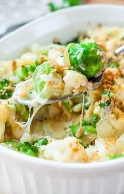 Creamy cauliflower & broccoli