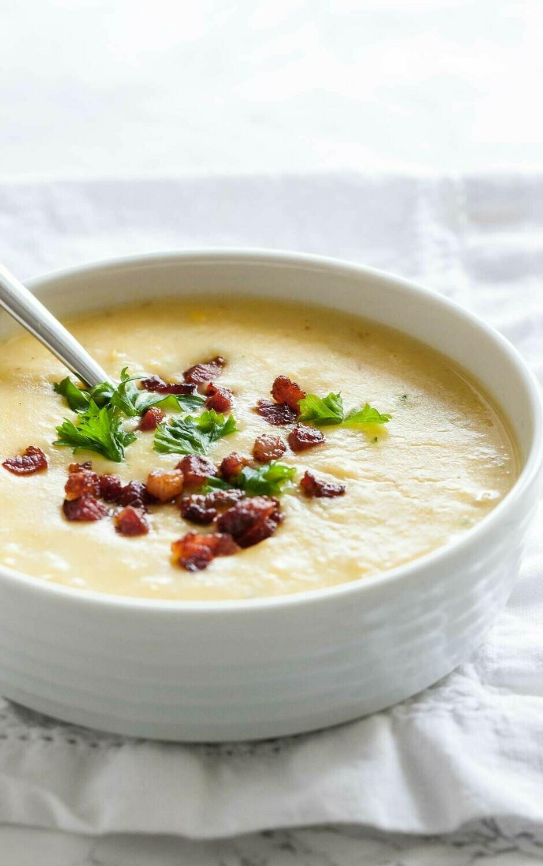 Potato & bacon soup