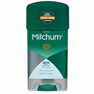 Mitchum Power Gel Antiperspirant Deodorant, Unscented, 2.25 Ounce