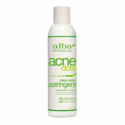 Alba Botanica Natural Acnedote Deep Clean Astringent, 6 Ounce