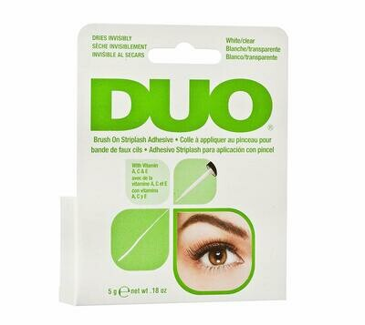 DUO Brush-On Lash Adhesive with Vitamins A, C & E, Clear, 0.18 Ounce