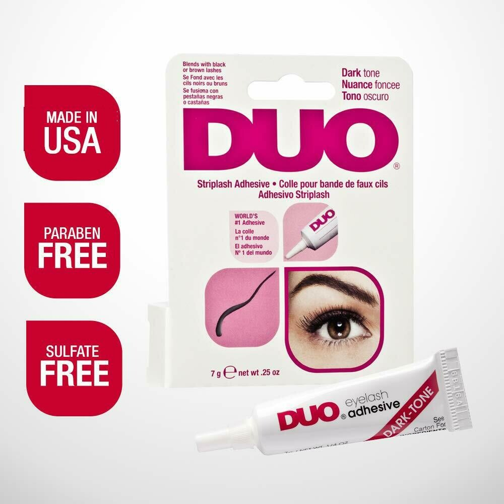 DUO Strip EyeLash Adhesive for Strip Lashes, Dark Tone, 0.25 Ounce
