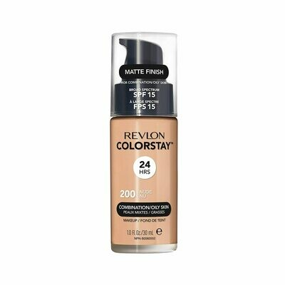 Revlon ColorStay Makeup for Combination/Oily Skin SPF 15, Matte Finish, #200 Nude, 1 Count
