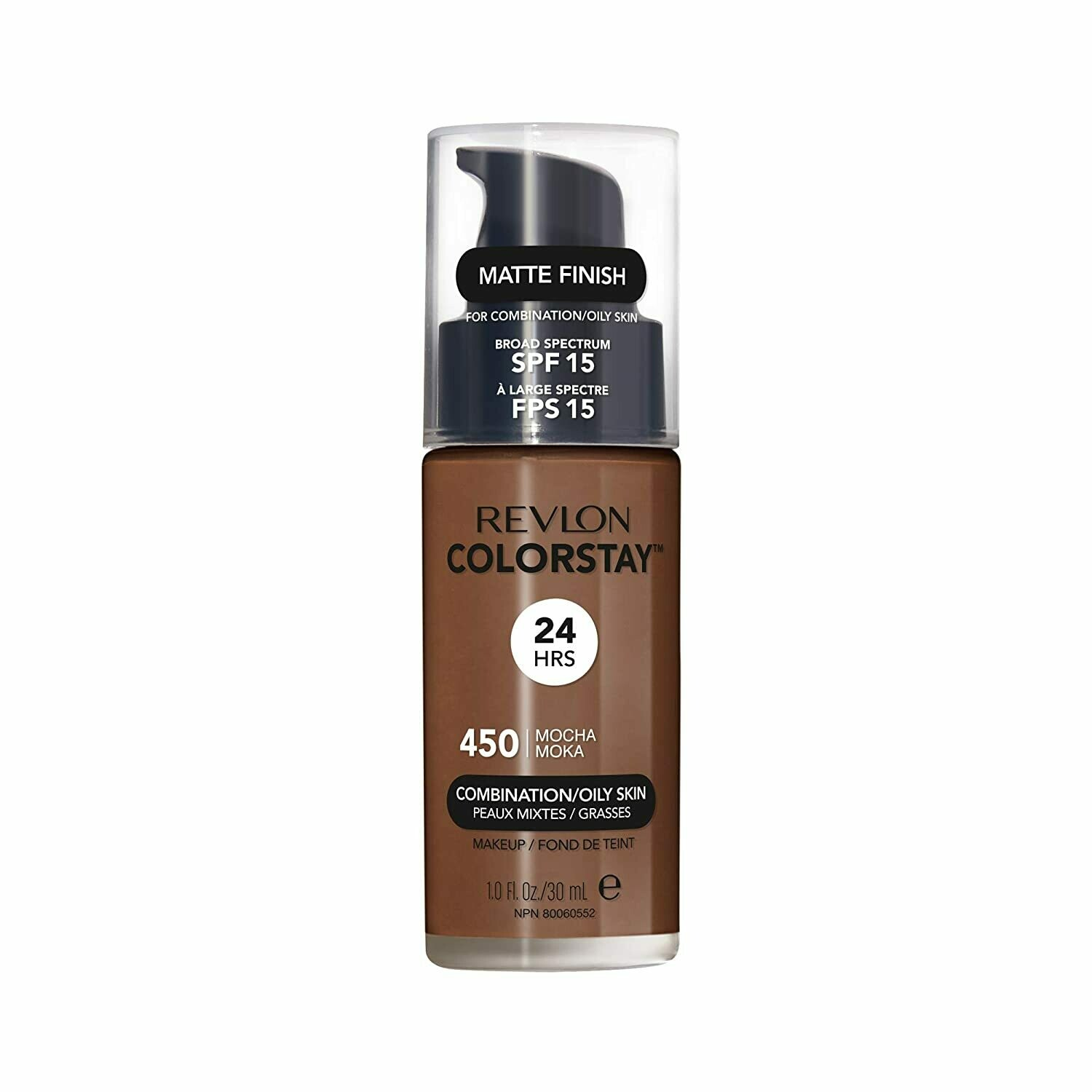 Revlon ColorStay Makeup for Combination/Oily Skin SPF 15, Matte Finish, 450 Mocha, 1 Count
