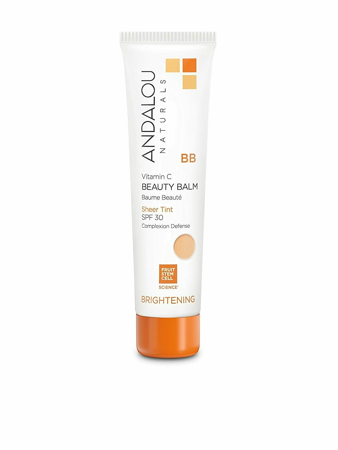 Andalou Naturals Beauty Balm Sheer Tinted Moisturizer with SPF 30, 2 Ounce