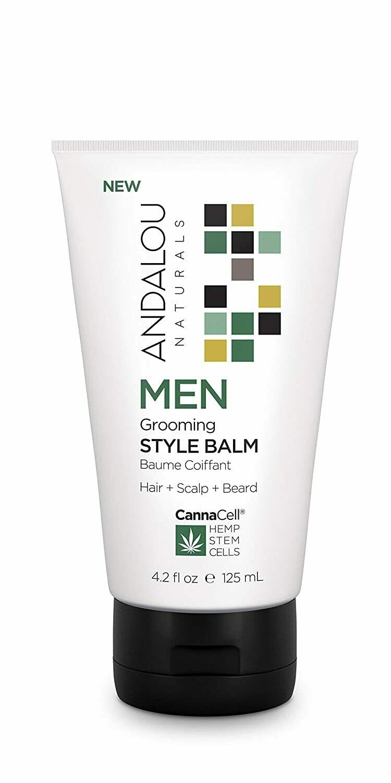 Andalou Naturals CannaCell Men Grooming Hair Style Balm, 4.2 fl Ounce