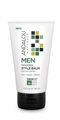 Andalou Naturals CannaCell Men Grooming Hair Style Balm, 4.2 fl Ounce