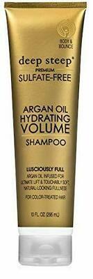 Deep Steep Argan Oil Hydrating Volume Hair Shampoo, 10 Ounce